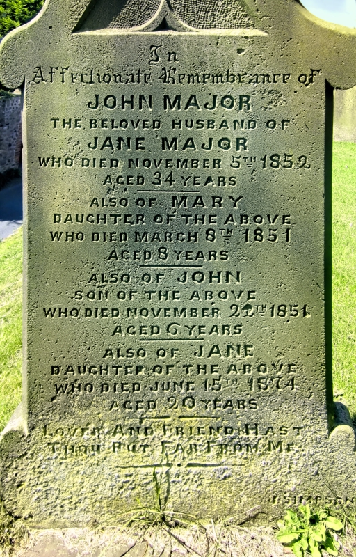 Grave of John Major_straight